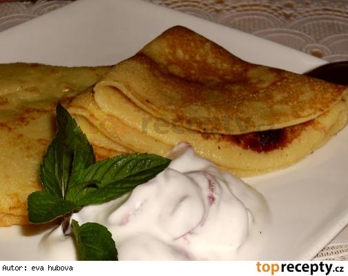 Palacinky z jablkového cesta /Jablkové palačinky s marmeládou