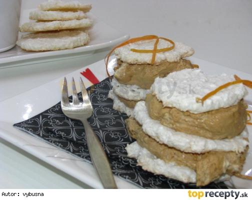 Krémový dezert so snehovými kolieskami