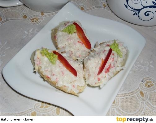 Nátierka z krabích tyčiniek /Pomazánka z krabích tyčinek