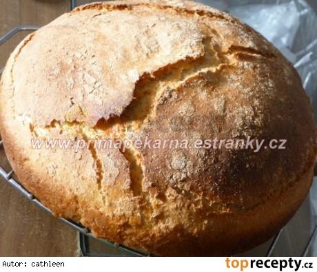 Cmarový vločkový chlieb pečený v remoske /Podmáslový vločkový chleba z remosky