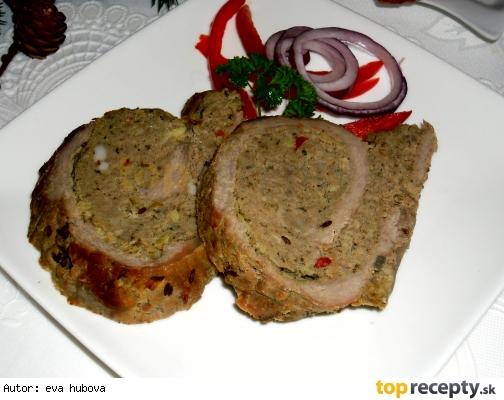 Roláda plnená mletým mäsom z diviaka - divina/Roláda s mletým masem z divočáka