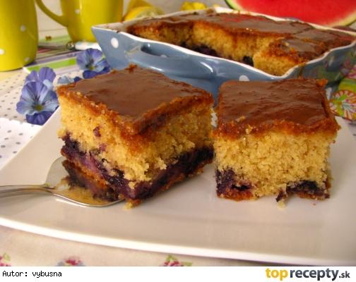 Citrónovo-čučoriedkový koláč