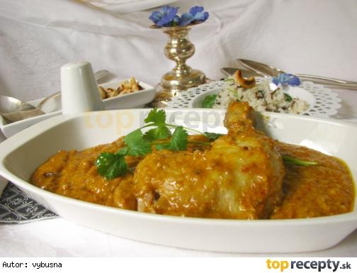 Indická kuchyňa - maslové kura masala - chicken butter masala