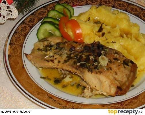 Kapor na masle s ligurčekom /Kapr na másle s libečkem