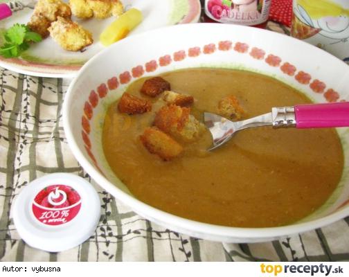Krémová šošovicová polievka pre detičky