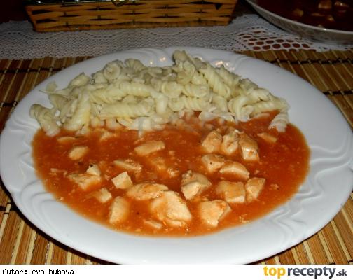 Kuracie mäso v paradajkovej omáčke /Kuřecí maso v rajčatové omáčce