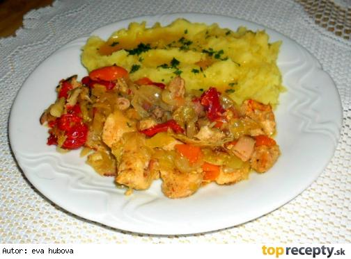 Kuřecí prsa se zeleninou
