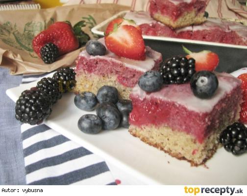 Malinový koláč v zime