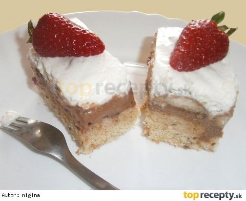 Mandľovo-orieškový koláč s čokoládovo-kávovým krémom