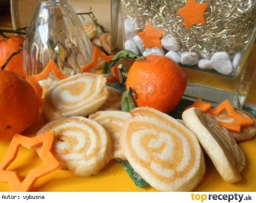 Marcipánové slimáky s mandarinkovou chuťou