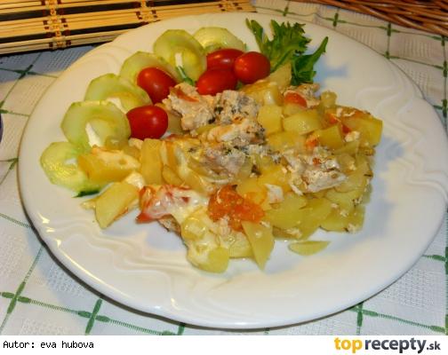 Zapečené mäso so zemiakmi /Zapečené maso s bramborem