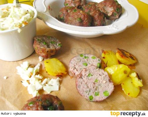 Mäsové guľky s hráškom