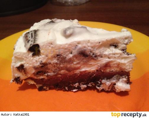 Oreo koláč s mascarpone a čokoládou