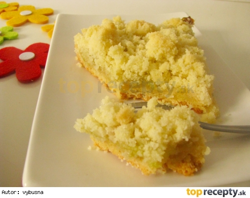 Rebarborový koláč s mrveničkovou posýpkou
