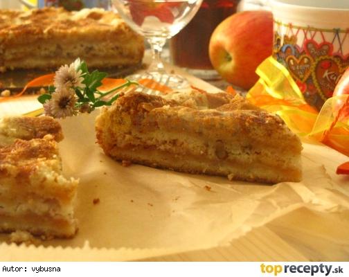 Sypaný jablkový koláč