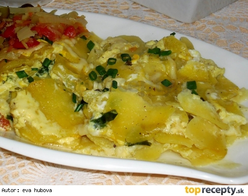 Zapečené brambory s medvědím česnekem
