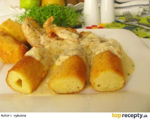 Zemiakové krokety, plnené syrom